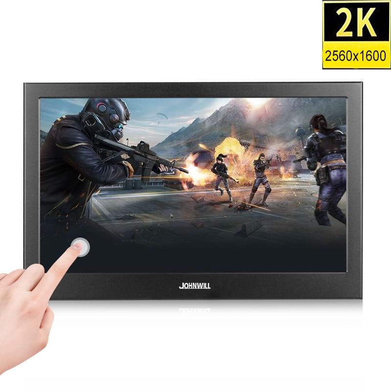 "10.1 inch 2K IPS HD LCD Touch screen Portable Monitor pc Mini HDMI 11.6"" 1080p usb display for Raspberry Pi PC Windows 7 8 10"