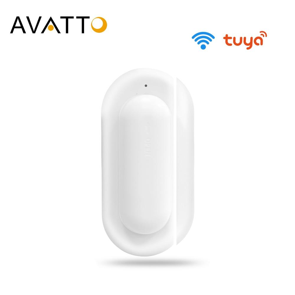 AVATTO Tuya חכם WiFi דלת חיישן, דלת פתוחה/סגור גלאי, smartlife APP Wifi חלון חיישן לעבוד עם Alexa,Google בית