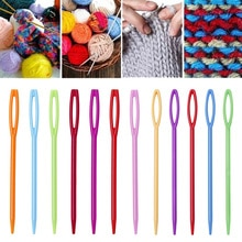10Pcs 9cm/7cm DIY Plastic Needles Tapestry Sewing Wool Yarn Children Crochet Tool Knitting Hand-knitted Tool Sweater Needle