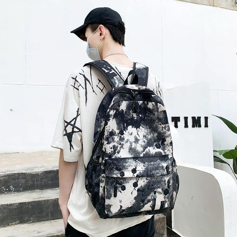 Модный мужской рюкзак, новинка 2021, классные школьные ранцы для мальчиков-подростков, камуфляжный рюкзак с текстом для учеников, мужской рюк...