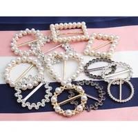 metal button t shirt pearl corner knotted buttons women shirt adjustment buckles clothes waist buckle accessories