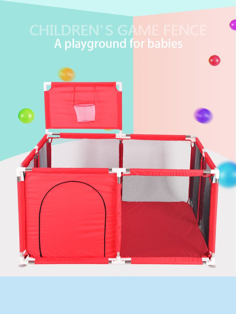 Game fence with basket ocean ball pool children's play children's safe toy pool baby playground safe game fence baby fence