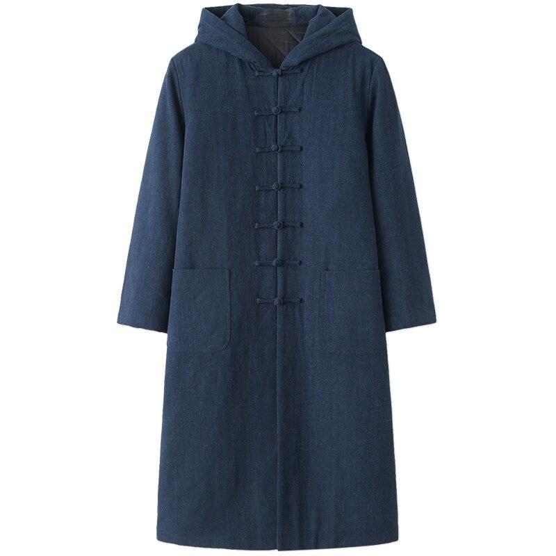 UNISEX invierno cálido taoismo wushu robe Wudang tai chi ropa Taoist coat kung fu martal artes vestido negro/rojo