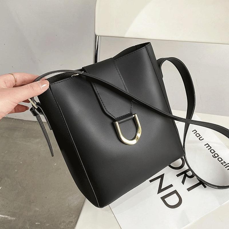 Women Large Handbags Leather Bags Designer Female Bucket Bag Fashion Shopping Messenger Shoulder Simple Sac