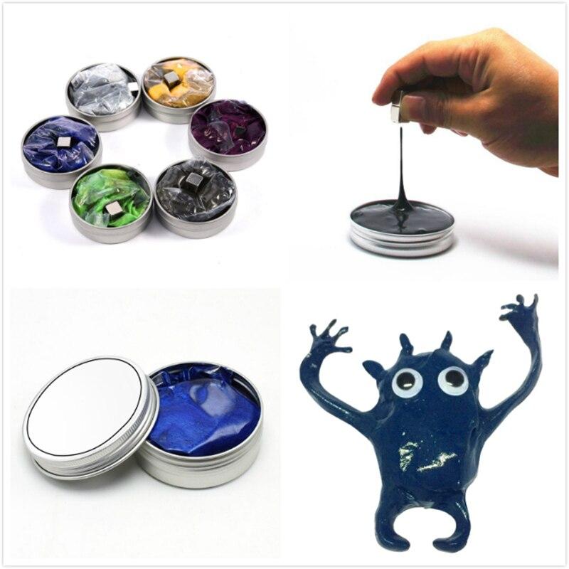 6 цветов, ручное моделирование, глиняная шпатлевка, слизня, магнитная шпатлевка, магнитная шпатлевка, сделай сам, Handgum, антистрессовая декомп...