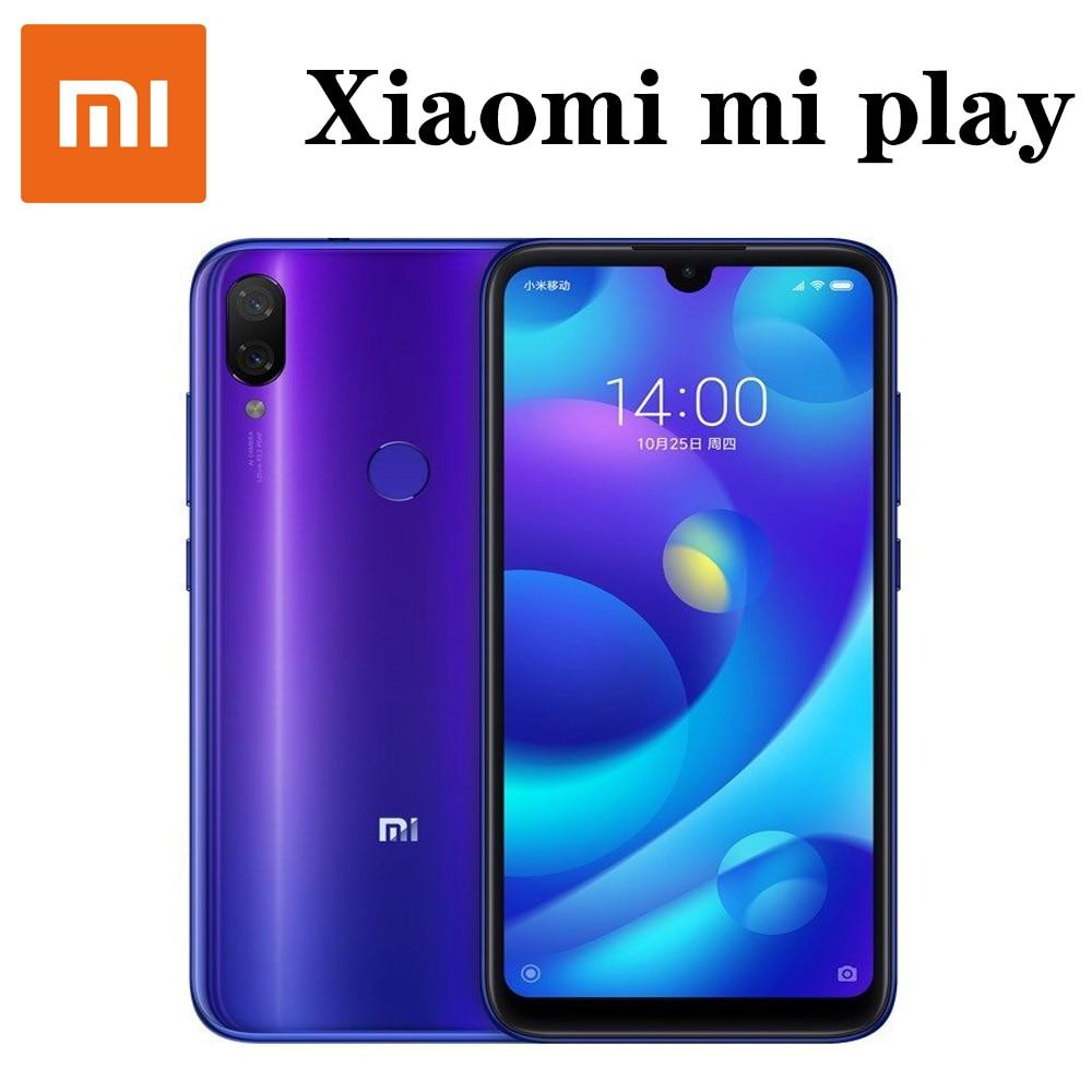 Xiaomi mi play smartphone Mediatek MT6765 Helio P35 telephone intelligent 1080 x 2280 pixels fast Charging 10W