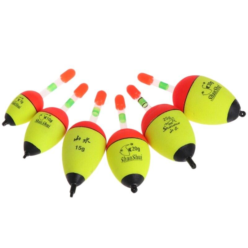 Flotador de pesca PE 5g/10g/15g/20g/25g/30g Bobber accesorios de flotas de agua salada herramienta de boya dropshipping