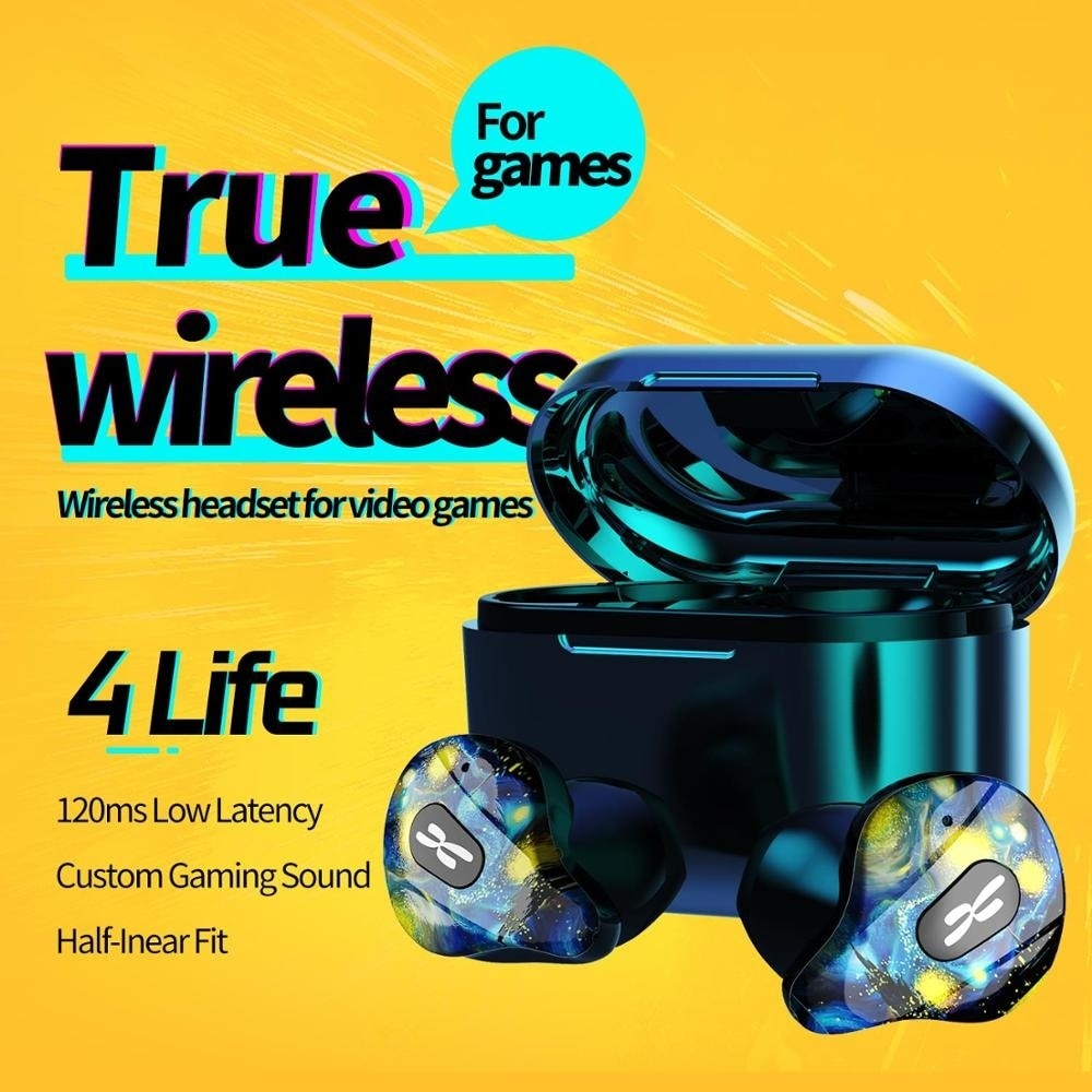 New 4 Live Your Real Wireless Bluetooth Headset With Microphone Sport Music Gaming Headset IPX5 Waterproof enlarge