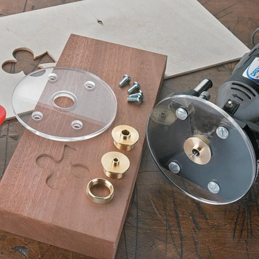 Маршрутизатор набор втулок Ассорти шаблон направляющие DCT латунь с замком гайки ось рукав (золото)