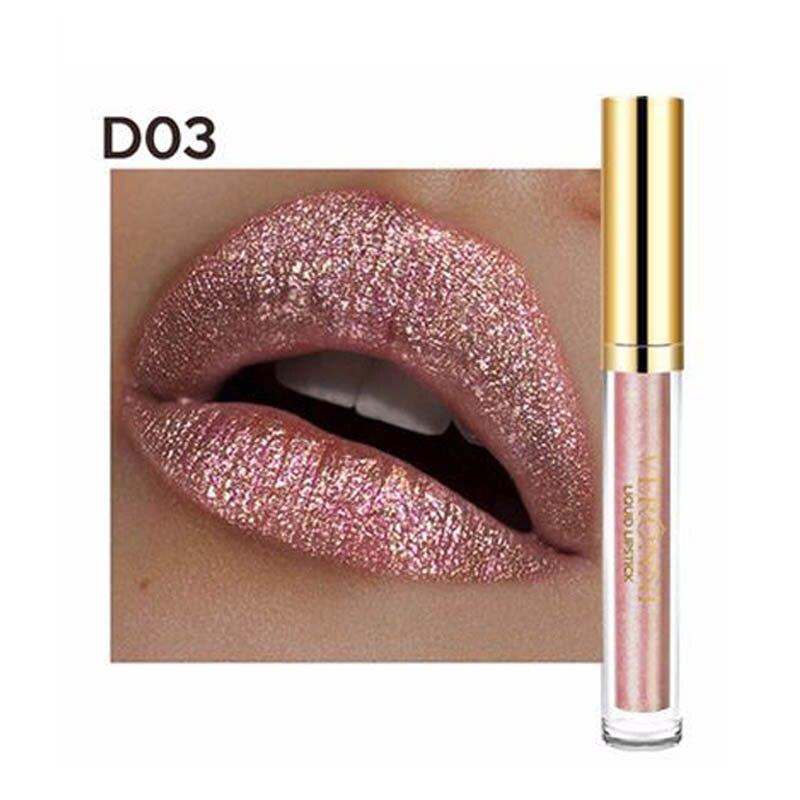 VERONNI Schimmer Glitter Metallic Lip Gloss Wasserdicht Make-Up Lang Anhaltende Flüssigkeit Lippenstift klar lip gloss