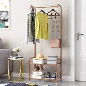 Simple Hanger Floor Bedroom Coat Rack Hanging Clothes Rack Wardrobe Storage Rack Creative Storage Hat Stand Clothes Funiture