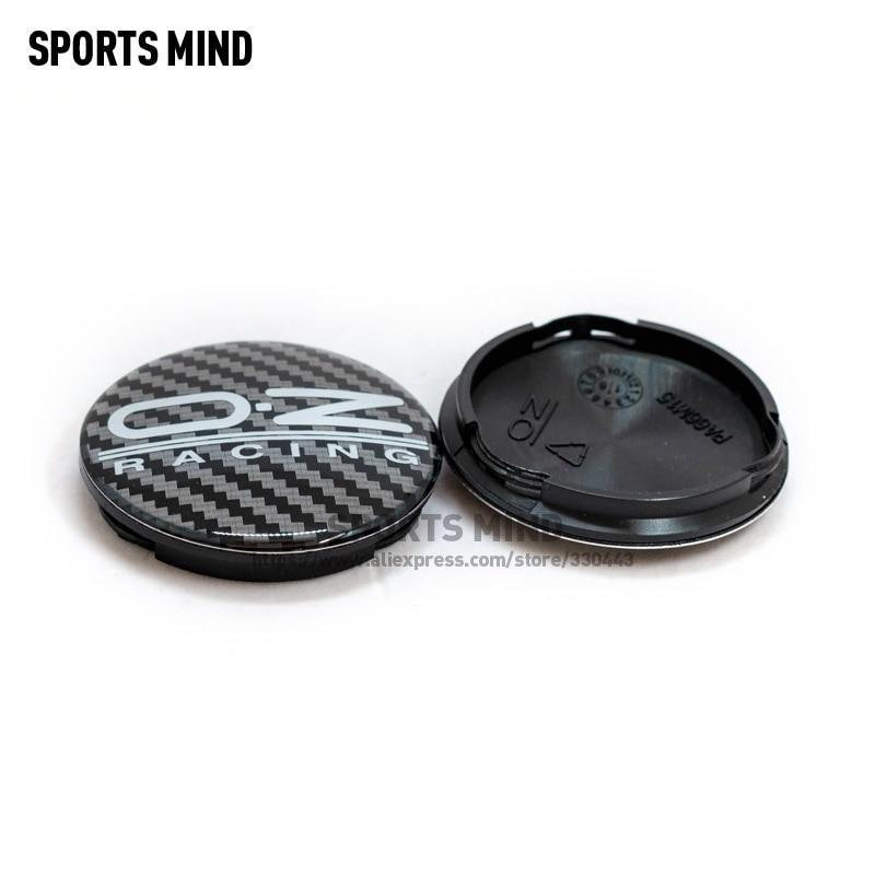 20 pçs/lote preto 62mm oz carro de corrida roda centro hub tampas liga aro da roda centro hub capa m595