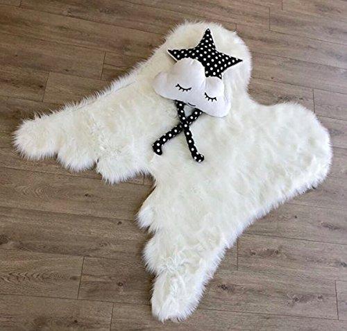 سوبر لينة أجنحة الملاك بساط من فراء صناعي للبنات غرفة سجادة من جلد الغنم هدية فكرة للأطفال غرفة نوم الأطفال طفل الحضانة