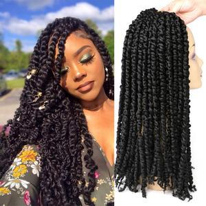 Предварительно скрученные волосы для вязания крючком DAIRESS, 18 дюймов, 11 подставок, богемные Предварительно скрученные волосы для вязания крю...