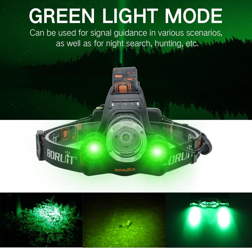 PANYZ LED كشافات 6000LM XM-T6 + 2 * XPE الأخضر العلوي الشعلة 3-وضع USB شاحن البنفسجي رئيس الشعلة خارج الباب البحث