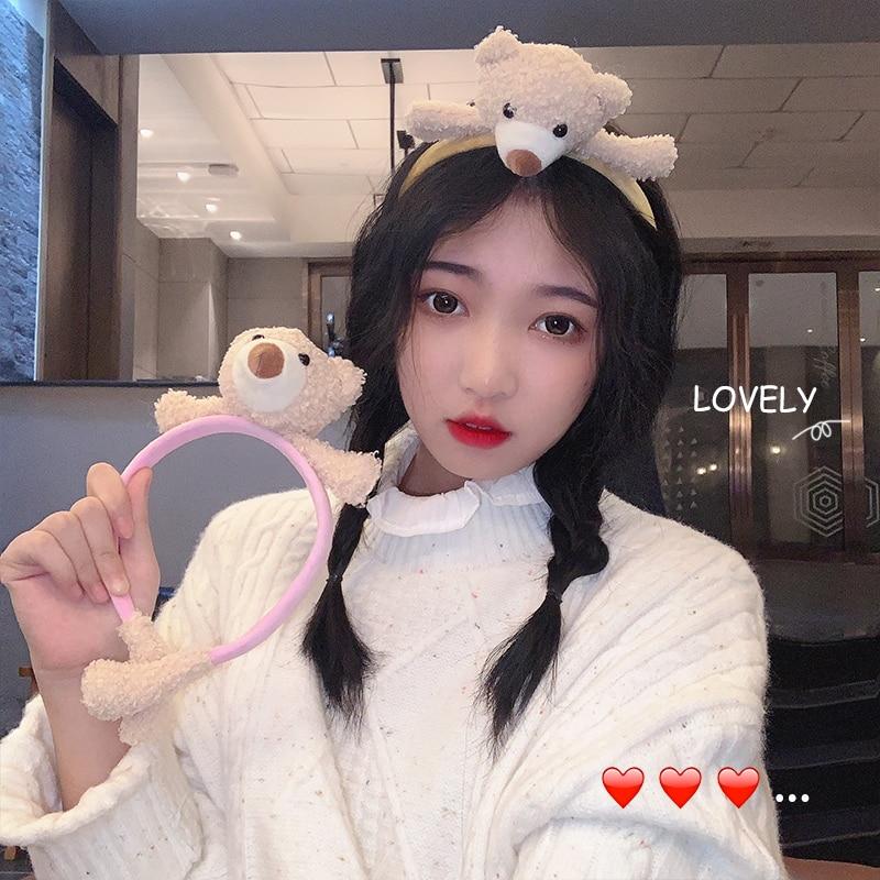 Cute Cartoon Doll Headband Girl's Heart Washing Face Hair Band Bear's New Friend Bunny Apply a Facia