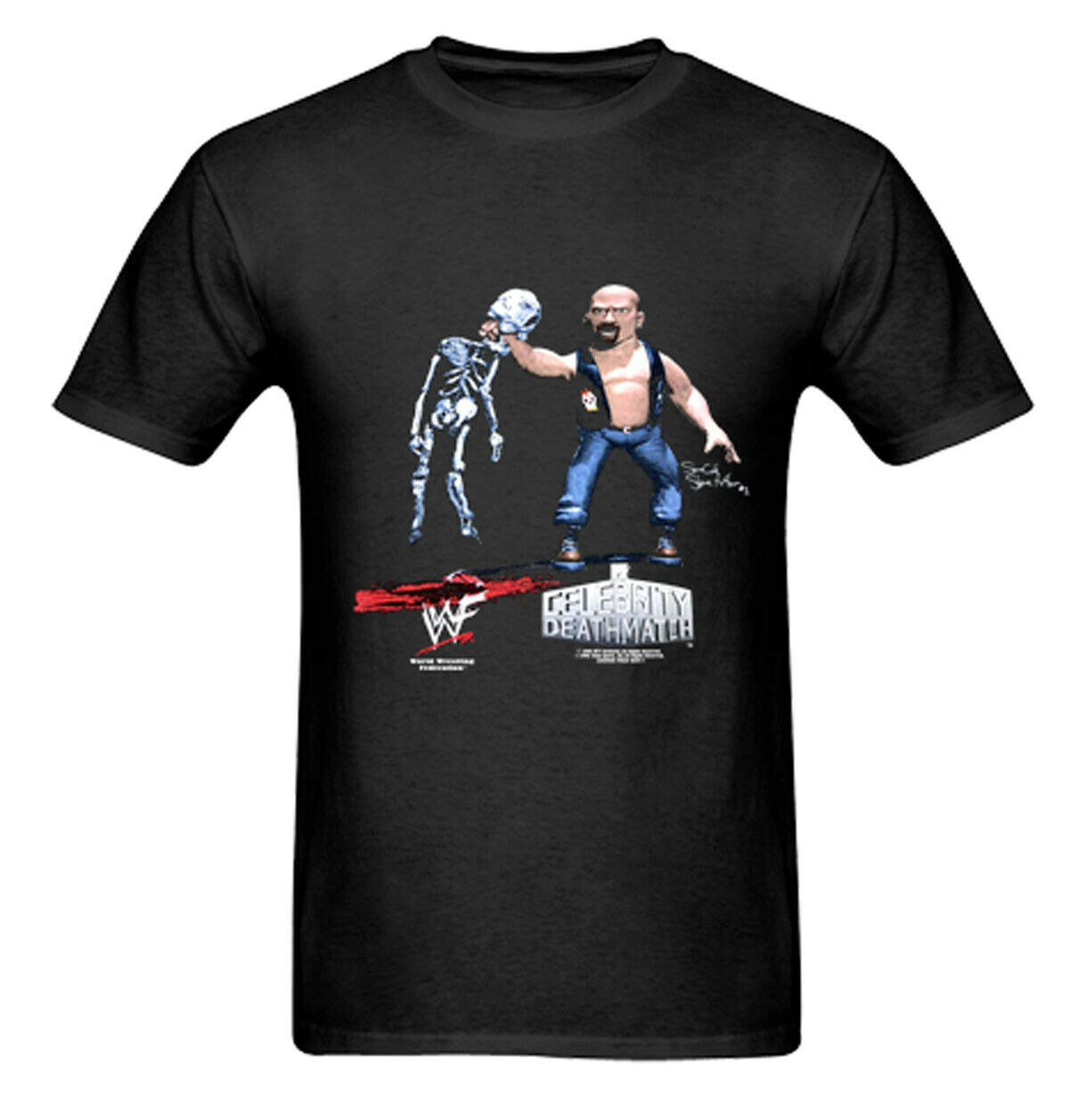 Piedra Cold Steve Austin Vtg EE. UU. 1998 Mtv Celebrity Deathmatch T camisa Wwf Repri