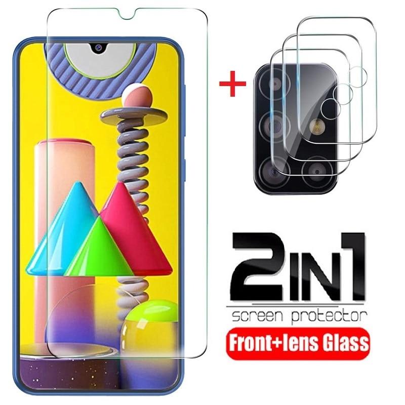 2 en 1 vidrio protector para Samsung Galaxy A10 A20 A30 A50...