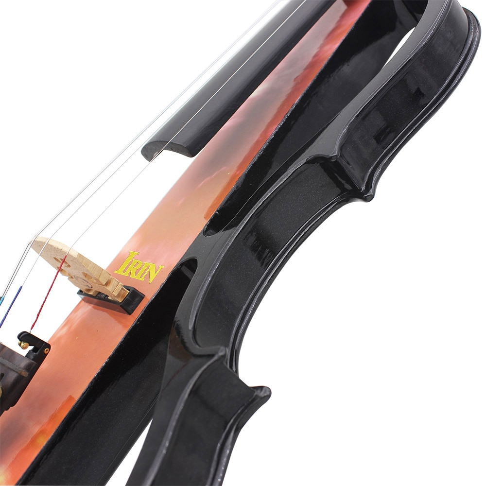 4/4 Electric Silent Violin Fiddle Stringed Instrument Orange Violin With Accessories Case Cable Headphone For Music Lovers enlarge