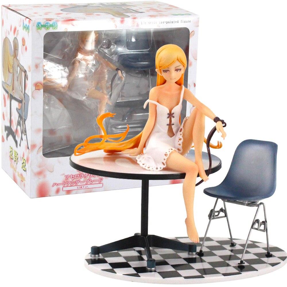 20cm Anime Bakemonogatari Oshino Shinobu 12 ans Ver. Jouet de collection de figurine en PVC Monogatari pré-peinte à léchelle 1/8