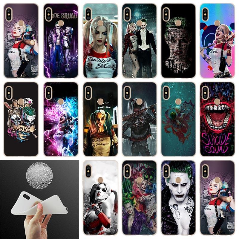 Joker Harley Quinn suave cubierta de la caja para Xiaomi Redmi Note 8 7 6 5 Pro 8a 7 6pro 6a s2 5a 4a 5plus y3 Coque Funda estuche de teléfono