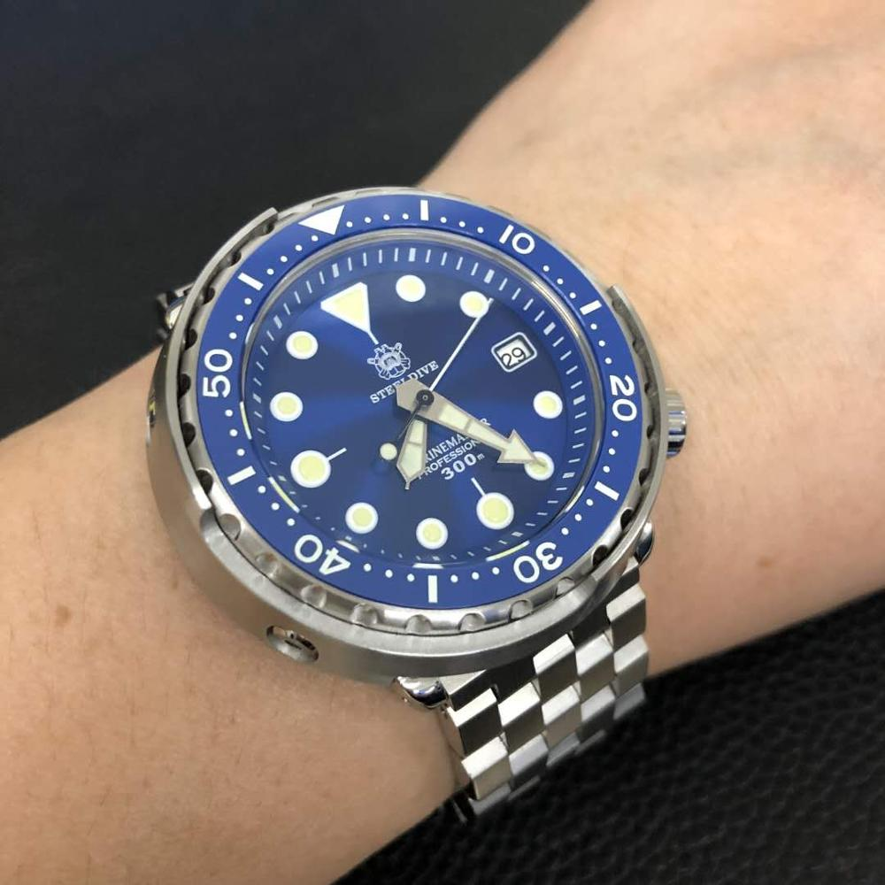 STEELDIVE-SD1975 ساعة يد يابانية NH35 fusion ، 30atm ، مصنوعة من الفولاذ المقاوم للصدأ ، تونة ، ميكانيكية ، غوص ، ياقوت زجاجي ، Reloj