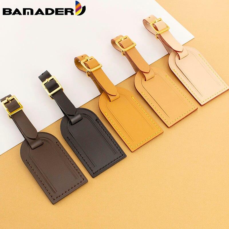 Багажные бирки BAMADER аксессуары для путешествий кожанный Дорожный чемодан идентификатор бизнес бирка для сумки для багажа украшения
