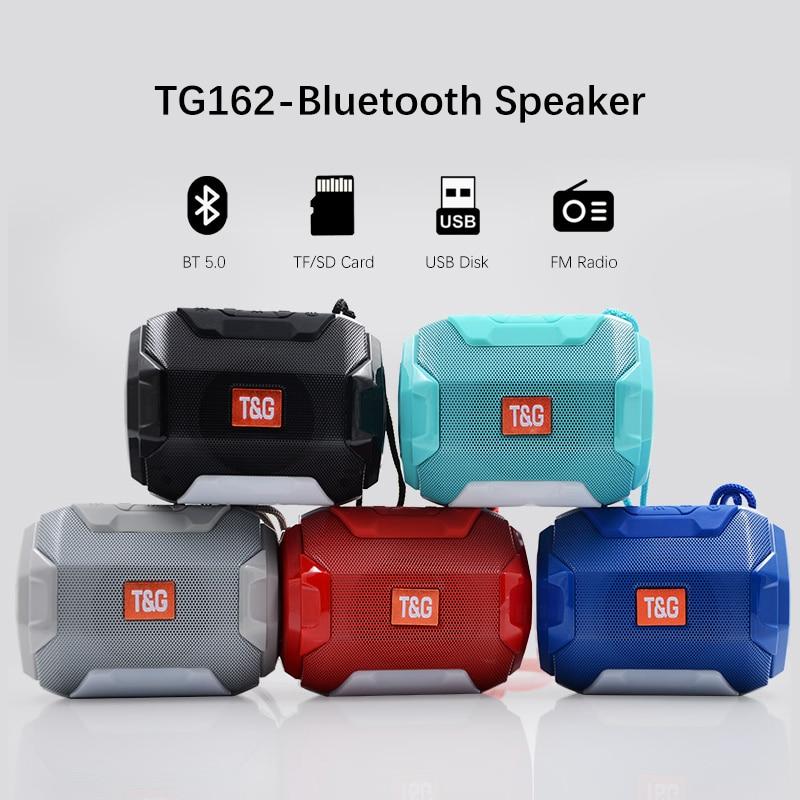 Minialtavoz con bluetooth portátil, con luz LED, boombox de música, radio fm,...