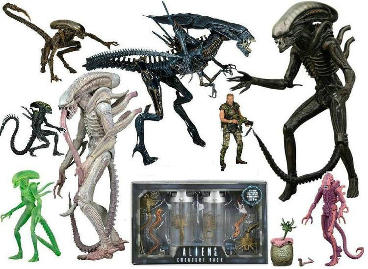 NECA ALIEN xenomorfo/Guerrero/rejilla perro alienígena PVC figura de acción de juguete de modelos coleccionables