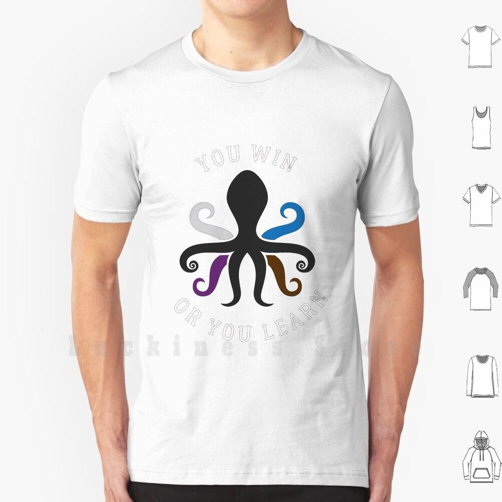 Polvo jiu jitsu você ganha ou você aprende t camisa de impressão para homens nova camiseta legal bjj jiu jitsu brasileiro jiu jitsu