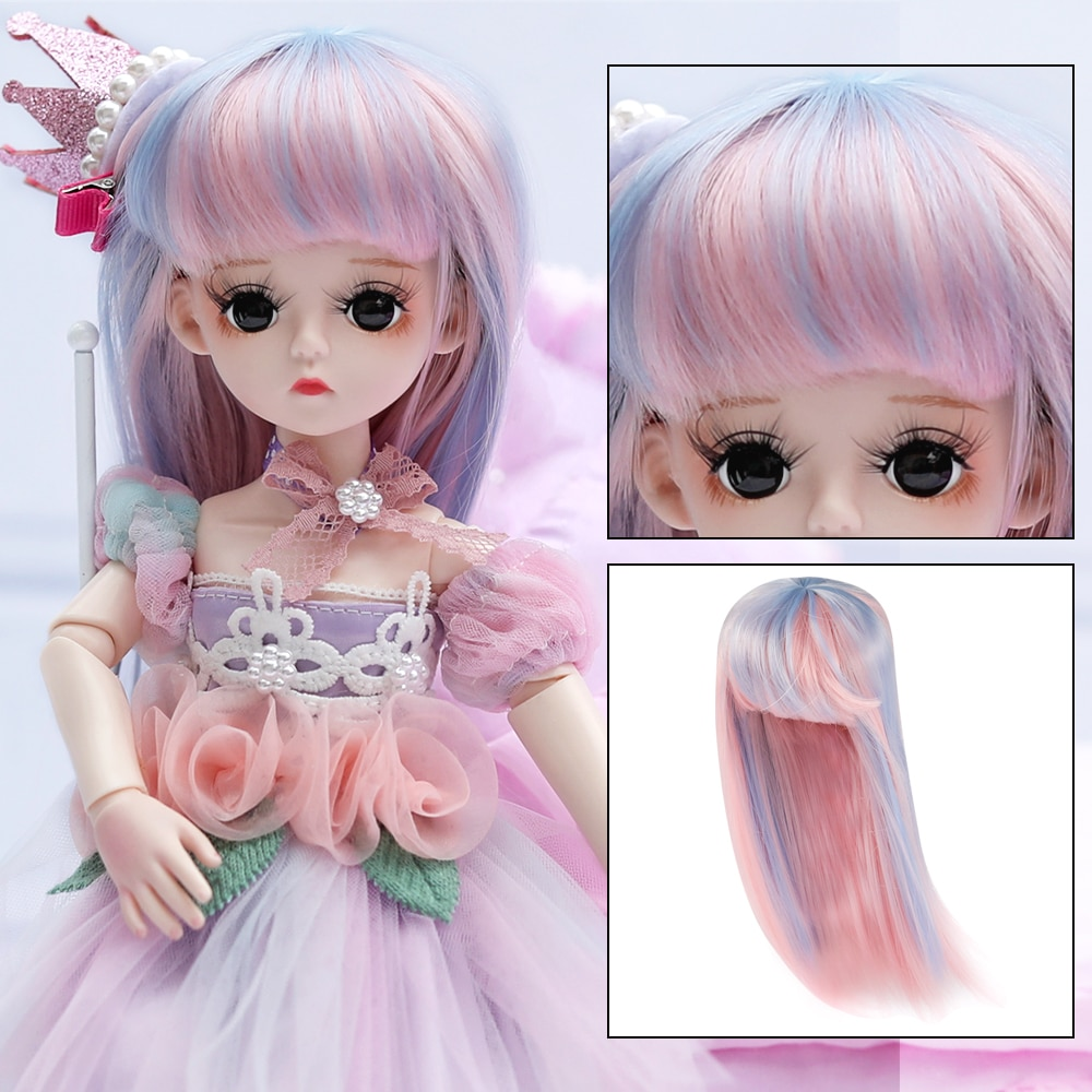 35cm black freckle bjd dolls silm full silicon african doll pretty girl toy with suit make up girls diy bjd dolls dress up toys UCanaan 1/6 BJD Wig 30CM Dolls Hair Accessories Doll Outfits For Girls DIY Dress UP Girl Toys Accessories