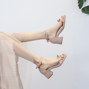 Summer Women Sandals Gladiator Buckle Strap Cover Heel Fashion Chunky Ladies Sandals for Woman Ankle Strap Footwear Plus Size