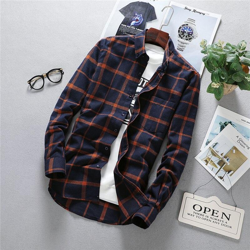 Мужская рубашка из ткани Оксфорд, повседневная Однотонная рубашка с длинными рукавами, левым нагрудным карманом и воротником на пуговицах, ...