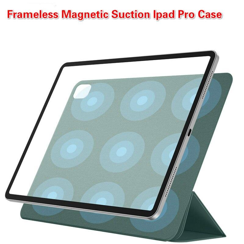 Caso magnético inteligente da tabuleta para o ipad pro 2020 11 polegadas caso drop-resistant capa de couro 12.9 funfunfunda duplo-face clipe caso de lápis