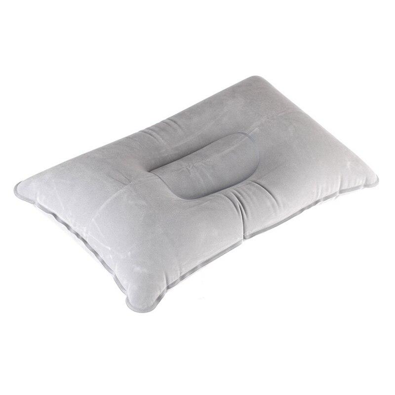 Dupla face reunindo inflável almofada de tecido camurça travesseiro viagem acampamento ao ar livre escritório avião hotel portátil dobrável