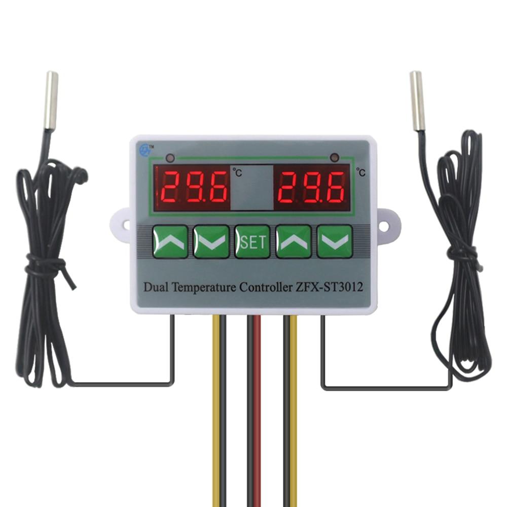 Контроллер инкубатора интеллектуальный цифровой двойной термостат регулятор температуры температура. Переключатель с двойным датчиком