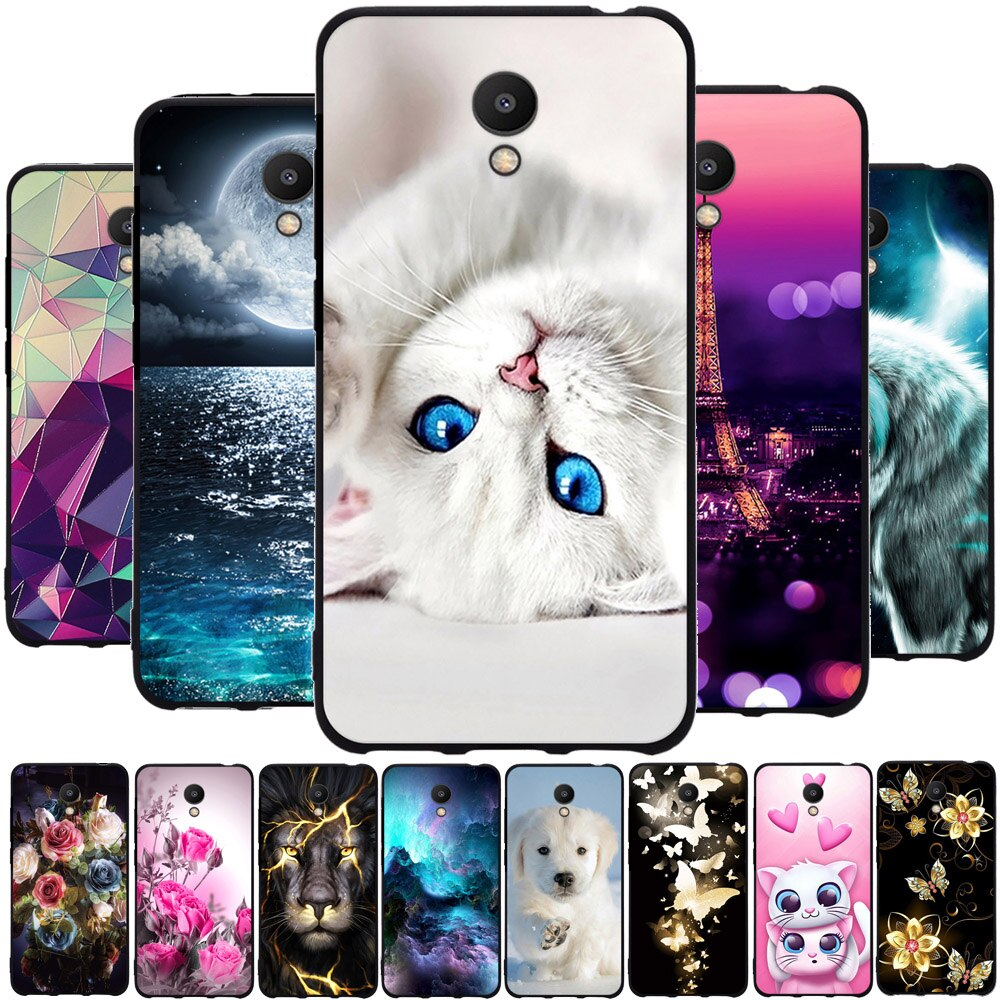 TPU Case For Meizu M6 Cover Pattern Silicone For Meizu M6 Meiblue 6 Meilan 6 Protective Capa For Mei