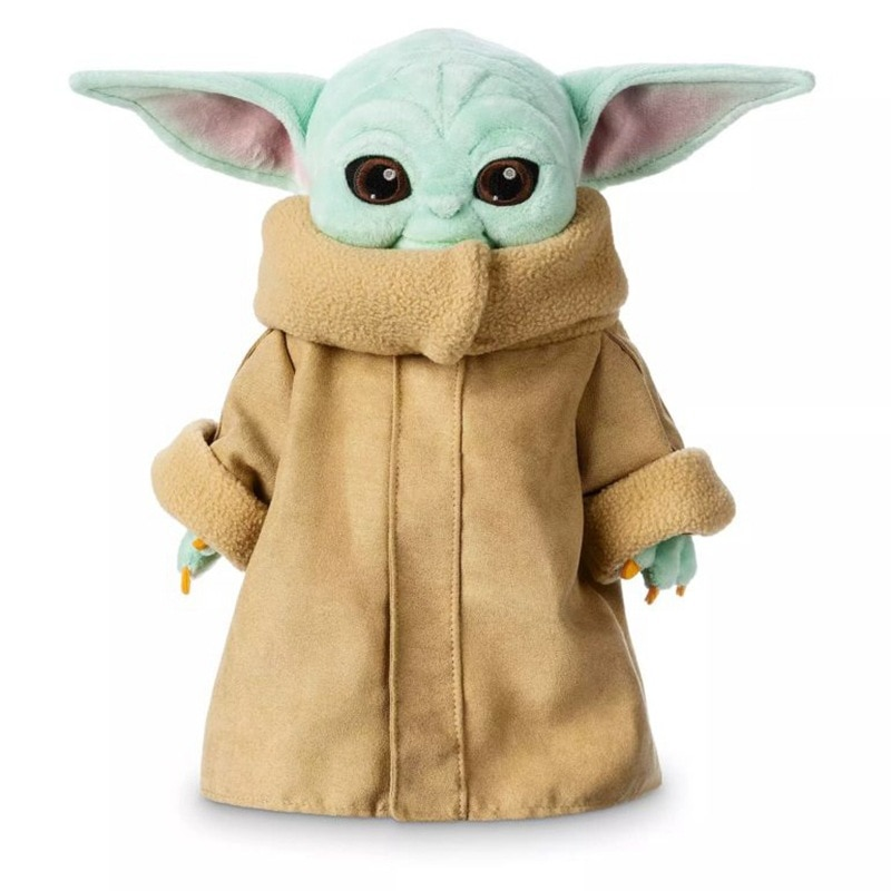 Juguete Yoda de felpa para bebé de 25/30CM, llavero de felpa para el despertar de la fuerza, muñeco de Peluche suave, almohada de felpa Juguetes de Star Wars