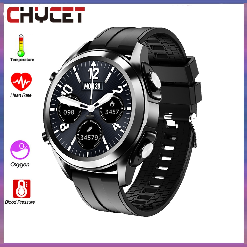 Review CHYCET 1.3 inch Full Touch Screen Smart Watch 2021 Men Women Fitness Tracker IP67 Waterproof Smartwatch for Xiaomi Android IOS