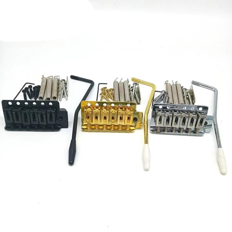 Sistema de puente para guardabarros Stratocaster Strat, partes de guitarra cromadas, trémolo