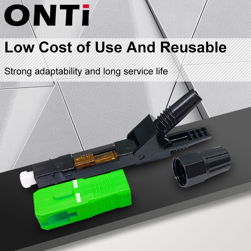ONTi 200-400pcs FTTH Embedded Fiber Optic Fast Connector SC APC Single Mode Fiber Optic Adapter SC UPC Cold Quick Field Assembly enlarge