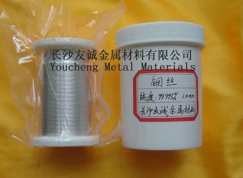 Material de recubrimiento al vacío diámetro del alambre indio 1,0mm longitud 5m otros tamaños se pueden personalizar
