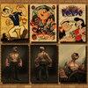 뽀빠이 선원 빈티지 크래프트 종이 클래식 클래식 영화 포스터지도 홈 데코 벽 데칼 아트 레트로 학교 지문