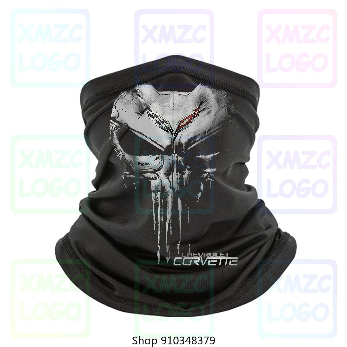 Corvette C7 C6 C5 C4 C3 C2 C1 Z06 Zr1 Bandana de hombre de algodón negro de tamaño completo pañuelo Bandana calentador de cuello mujeres hombres