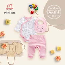 Triangle bodysuit baby's spring and autumn clothes
