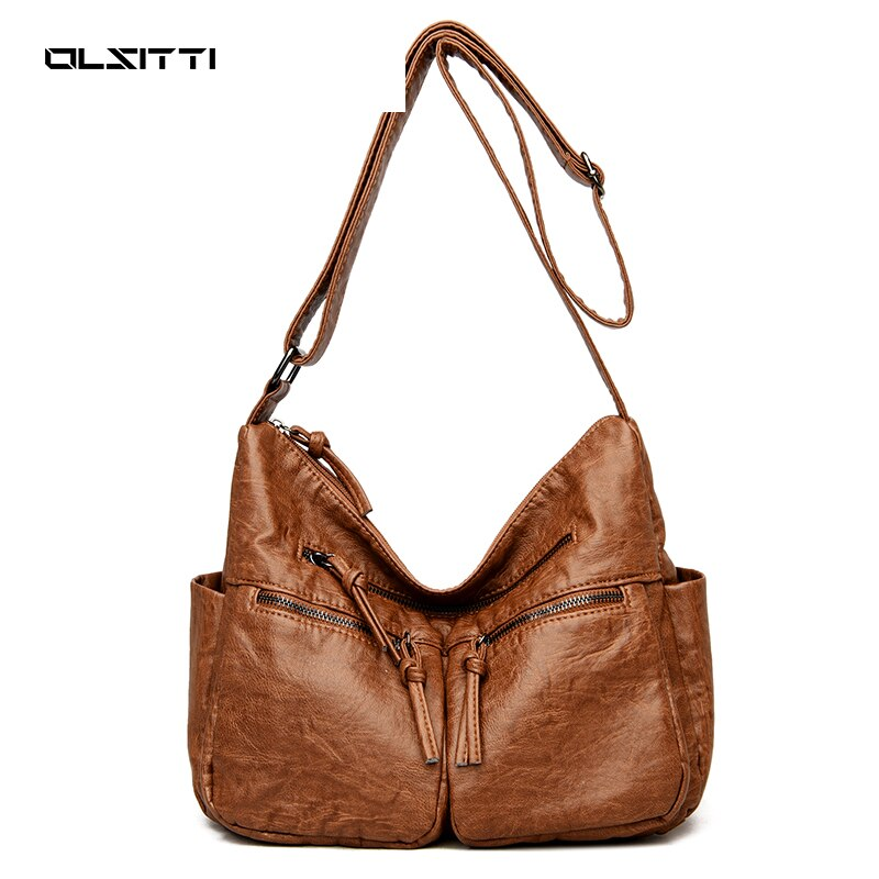 Quality Soft Leather Shoulder Bags for Women New 2021 High Handbags Luxury Designer Crossbody Women
