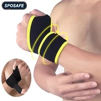 1pair sports wrist brace wraps support adjustable straps carpal tunnel for volleyball badminton tennis basketball weightlifting