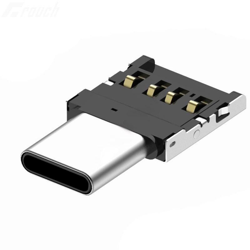 Adaptador tipo C USB-C a USB 2,0 OTG para Xiaomi Mi A1 para Samsung Galaxy S8 Plus Oneplus 5T m-acbook Pro tipo C OTG convertidor