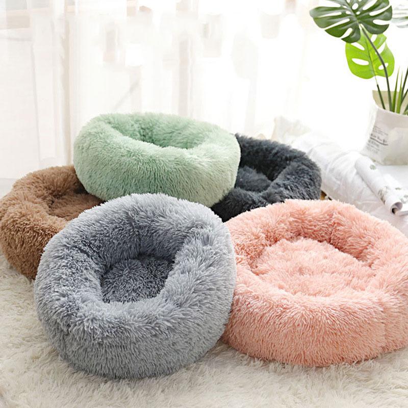 Супер мягкая кровать для собак, плюшевый коврик для кошек, кровати для больших собак, кровать для лабрадоров, дом, круглая подушка, товары дл...