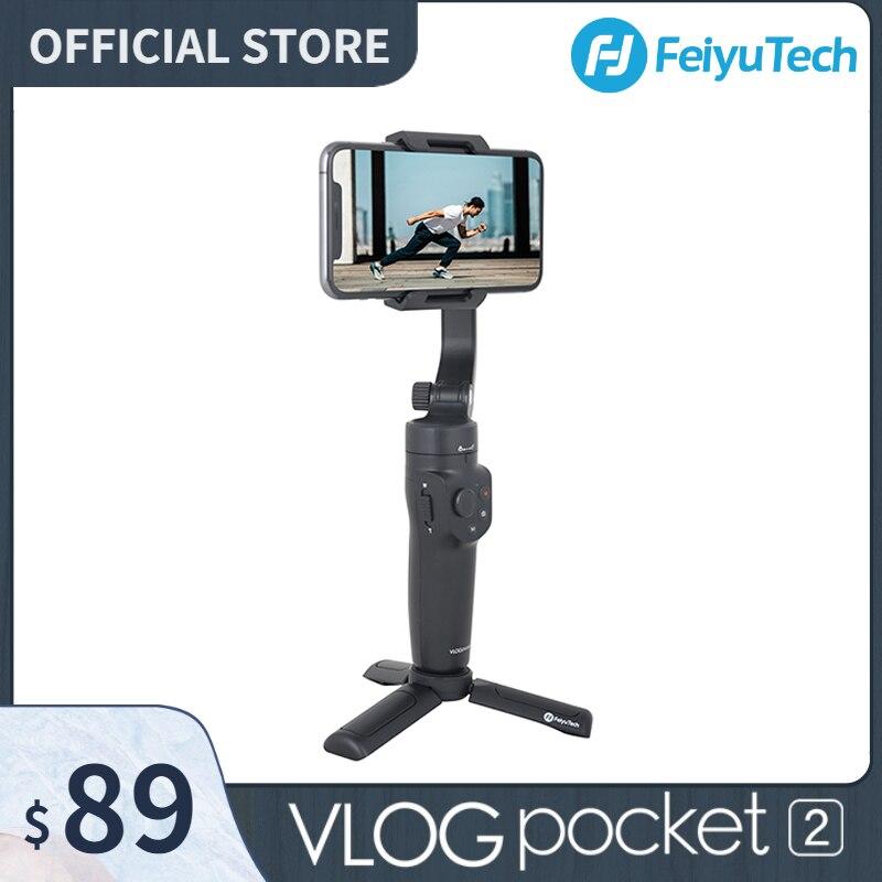 FeiyuTech الرسمية VLOG جيب 2 البسيطة المحمولة الهاتف الذكي Gimbal استقرار selfie عصا ل فون 11 XS XR 8 7 ، هواوي P30 برو